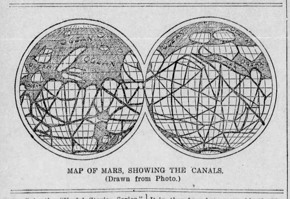 Map created by astronomer and businessman Percival Lowell